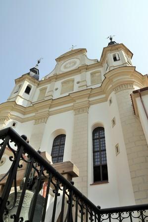 foreshortening: St. Michael church in Vilnius. Bottom foreshortening