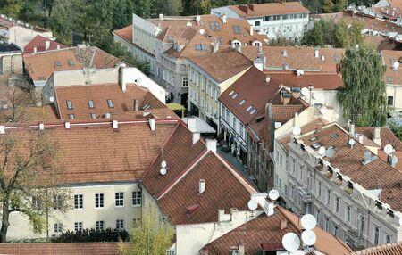 Vilnius old city panorama. Pilies street photo