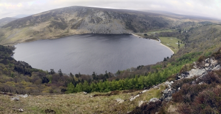 tay: Wicklow Mountains   Lake Tay  Lough Tay  Early morning  Mist  Spring season