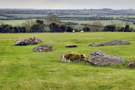 co  meath: Panorama Boyne Valley near Knowth, Co  Meath, Ireland