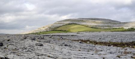 The Burren is a karst-landscape region in northwest County Clare, in Ireland  Irish fences Stock Photo - 13899761