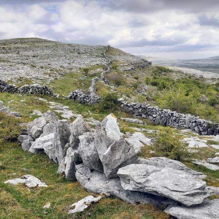 The Burren is a karst-landscape region in northwest County Clare, in Ireland  Irish fences
