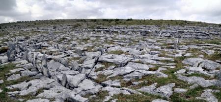 The Burren is a karst-landscape region in northwest County Clare, in Ireland. Irish dolmen photo