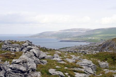 eire: Atlantic coastline, county Clare  The Burren near West Derreen, West Eire Stock Photo