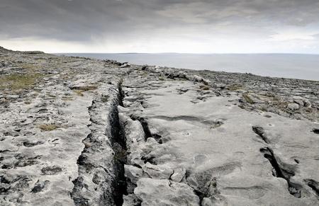 eire: Atlantic coastline, county Clare. The Burren near West Derreen, West Eire