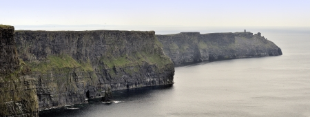 The Cliffs of Moher, also called Cliffs of Mohair, are one  outstanding coastal features of Ireland and one of its most beautiful landmarks  photo