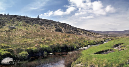 Wicklow mountain landscape in a sunny day photo