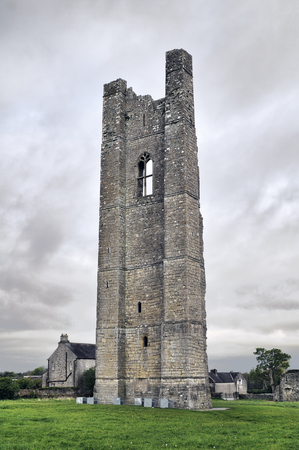 county meath: The Yellow Steeple, Trim, County Meath, Ireland Stock Photo