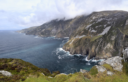 Cliffs of Slieve League in County Donegal, Ireland photo