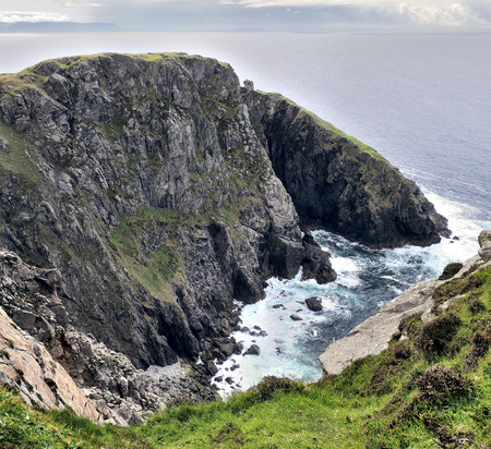 Carrigan Head, Donegal, Ireland  A coastal lookout tower  photo
