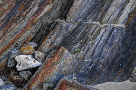 metamorphic: Metamorphic rocks layers. Silver strand, More Malin, Donegal, Ireland,
