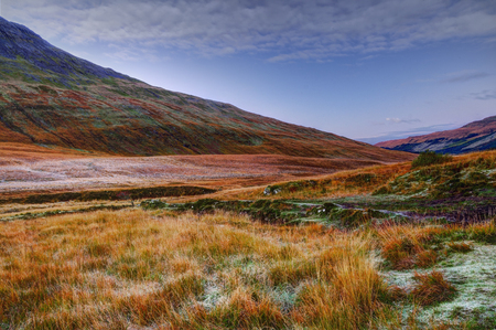 brittle: Early, frosty morning in Fairy Pools, Glen Brittle, Isle of Skye, Inner Hebrides, Highlands, Scotland