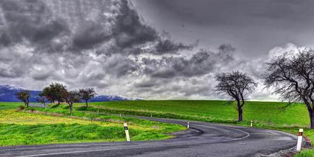 Slovakia spring landscape. Presov (Prešov) Region.