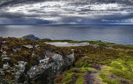 Cliffs of Slieve League in County Donegal, Ireland Stok Fotoğraf