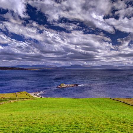 Bay scenic view landscape.