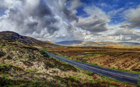 The Derryveagh mountains  in County Donegal, Ireland. Beauty morning landscape