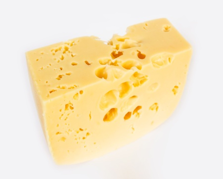 Piece of hard cheese
