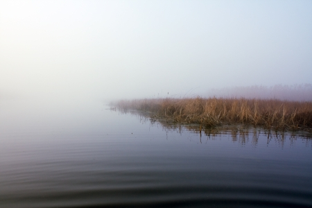 Lake in fog Stock Photo - 15924587