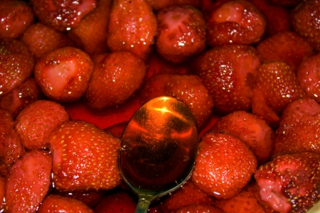 Strawberry cooking Stock Photo