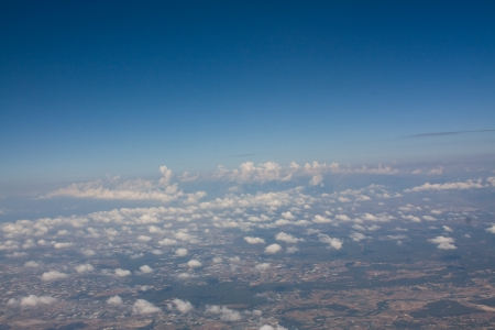 Over clouds photo