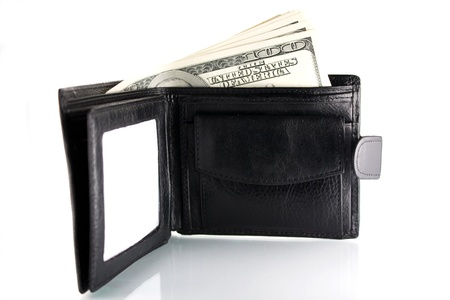 Pocket-book with a money photo