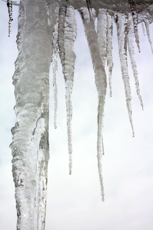 Big icicles Stock Photo