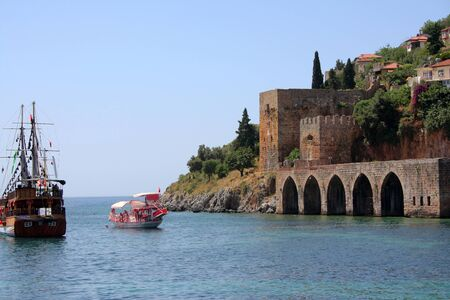 Turkish fortress on shore of sea Stock Photo - 16241809