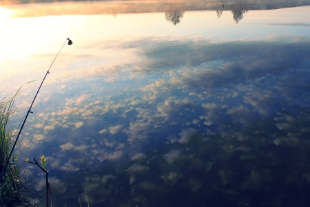 Fishing in skies Stock Photo - 16404193
