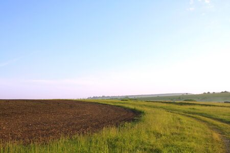 non cultivated: Ploughed field up Stock Photo