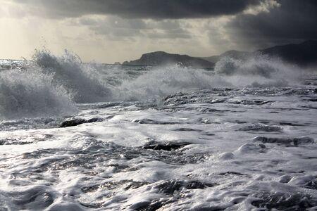 stormy waters: Marine storm