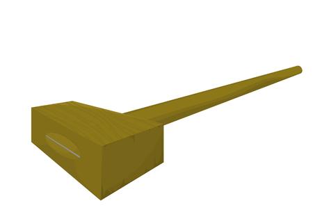 mallet: Mallet wooden