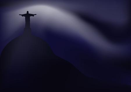corcovado: Rio de Janeiro Illustration