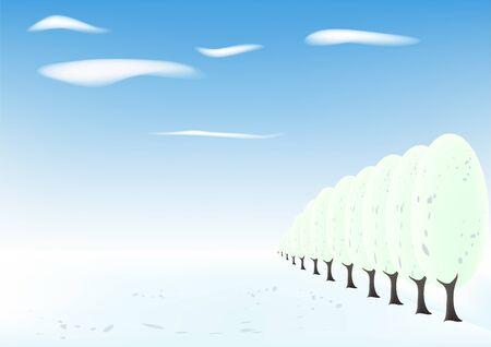 horizon over land: Winter landscape Illustration