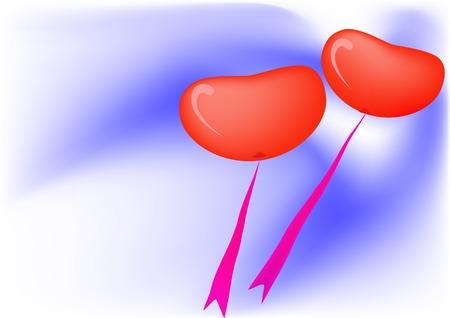 Balloons as a heart