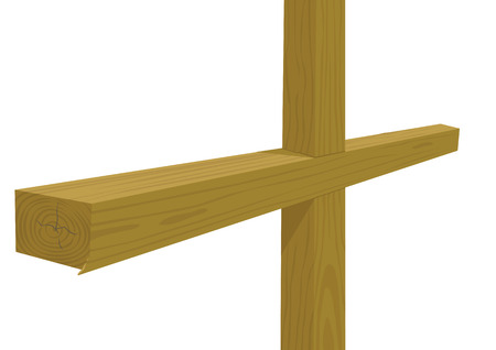 golgotha: Wooden cross Illustration