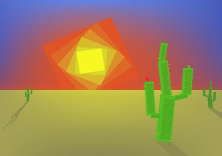 barren land: Morning in a desert