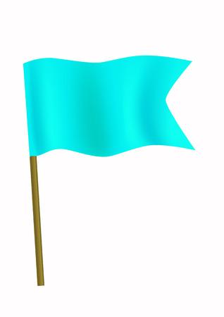 tilt: Blue small flag