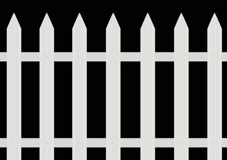 corral: Painted fence Illustration