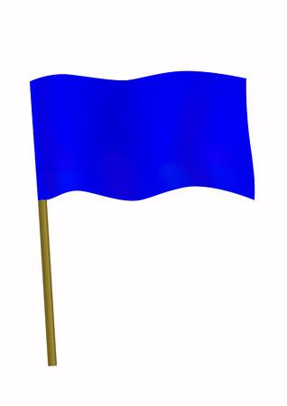 Dark blue small flag Ilustração