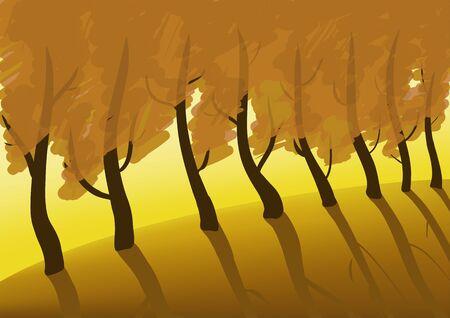 autumn scene: Autumn trees