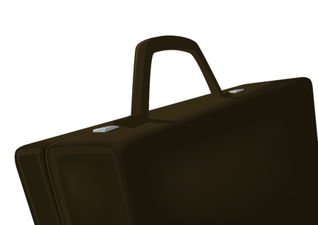 Brown brief-case on a white background