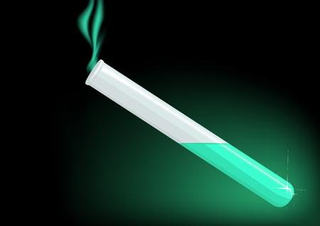 Luminous test tube with chemical Illustration