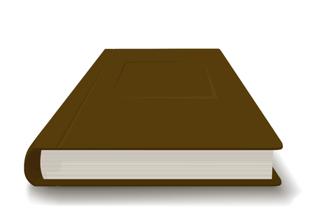 Thick book in a brown cover