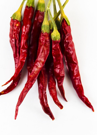 Dry chilli pepper on a white background Stock Photo