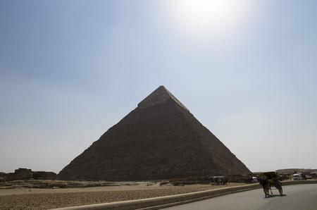 Pyramid of Khafre against the sky Banco de Imagens