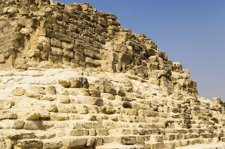 Old stone masonry of the pyramid in Egypt Banco de Imagens