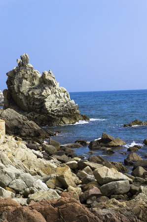 Rocky coast of the Mediterranean Sea Banco de Imagens