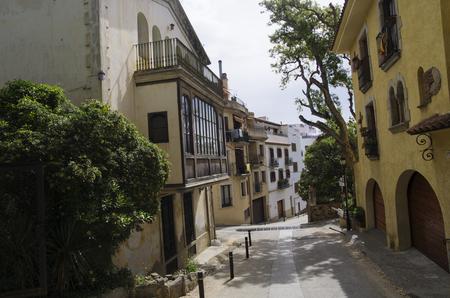 Winding streets of the city of Tossa Banco de Imagens