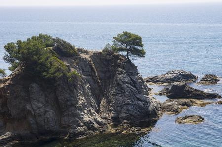 Rocky island in the sea