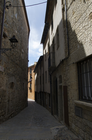 The streets of the ancient city of Gerona